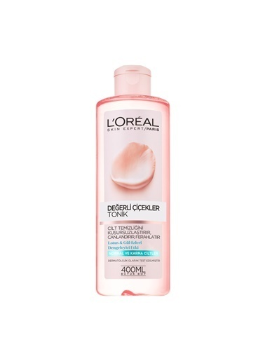 L'Oréal Paris Değerli Çiçekler Tonik Normal Ve Karma Ciltler Renkli